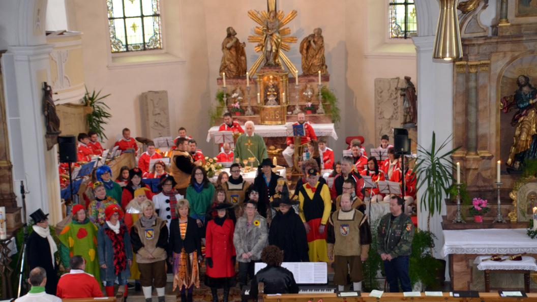Auftritt des Chores Hay Fidelity bei Gottesdienst - Messe  Hayingen 2018