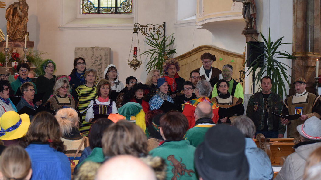 Auftritt des Chores Hay Fidelity bei Gottesdienst - Messe  Hayingen 2020